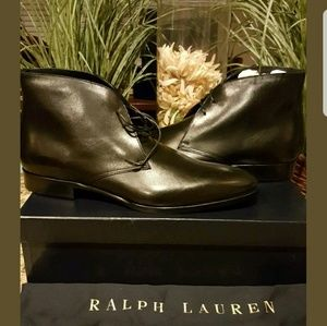 Ralph Lauren Men's Black Boots  Soft Calf Leather
